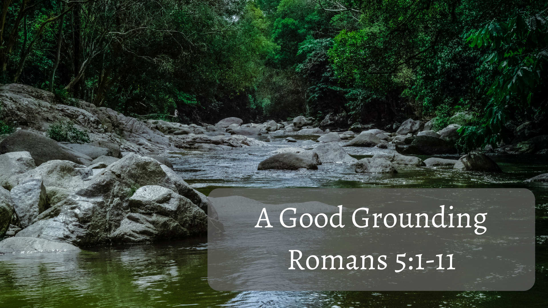 A Good Grounding